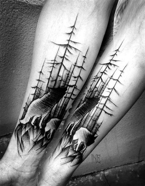 85 Negative Space Tattoo Motive mit Pros und Cons dafür