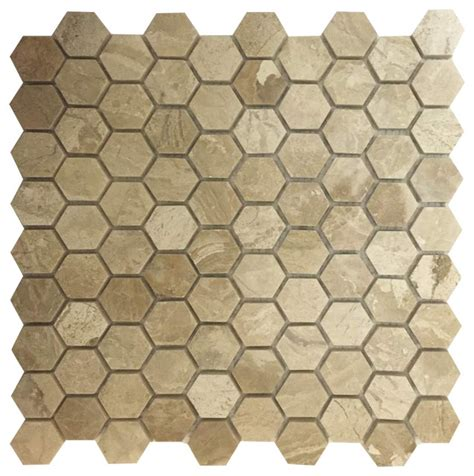 honeycomb mosaic floor tiles honeycomb hex polished mosaic diana royal 12 x12 traditional wall and floor tile by