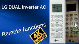 Lg Dual Inverter Ac   Remote Functions   And Air Filters