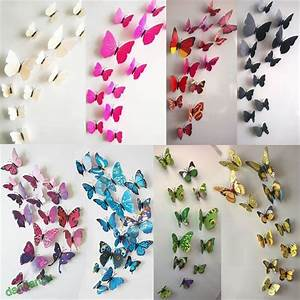 Cute diy d butterfly wall stickers decals sticker