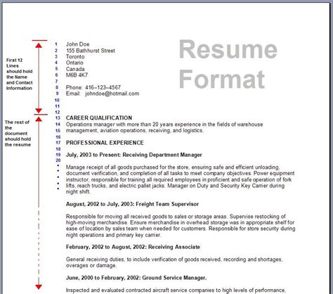 Effective Resume Formats by 7 Standard Resume Formats For A Winning Applicant