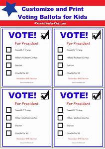 printable voting ballots for kids add your candidates With election ballots template