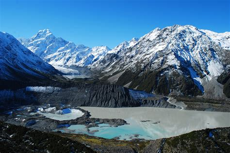 wallpaper new zealand cook national nature mountains snow