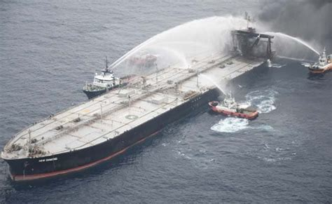 Sri Lanka Navy Plugs Fuel Leak On Fire-Stricken Tanker - z ...