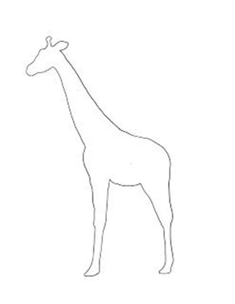 SIMPLE GIRAFFE OUTLINE | giraffe body brown paper for