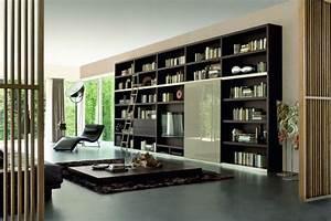 Bibliothèque Murale Contemporaine : 22 id es de design et d co biblioth que inspirantes ~ Teatrodelosmanantiales.com Idées de Décoration