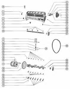 Mercruiser 140 Gm 194 I    L6 1963 Cylinder Block  Piston  U0026 Crankshaft Parts