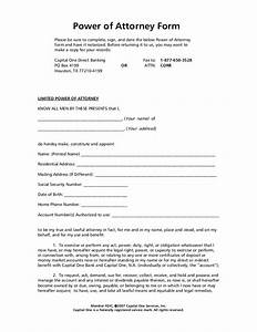 power of attorney form With corporate power of attorney template