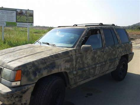 camo jeep cherokee sell used 1995 jeep grand cherokee 4x4 with custom camo