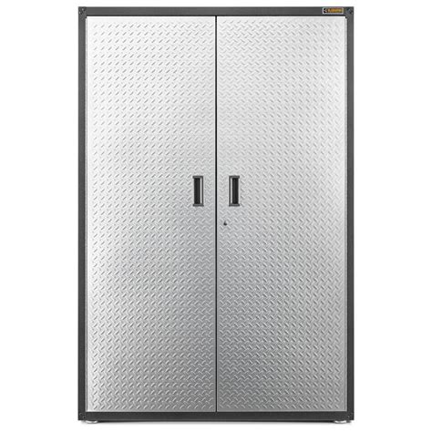 metal wall storage cabinets shop gladiator ready to assemble extra large gearbox 48 in