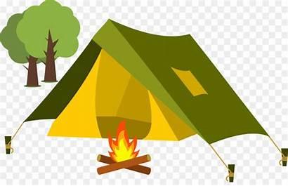 Camping Tent Clipart Campground Camp Transparent Cartoon