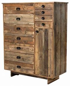 Zin Home Angora Reclaimed Wood Tall Armoire - Dressers Houzz