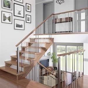 Rampe Pour Escalier : colonial elegance panneau en verre pour rampe verona escalier gc60032 rona ~ Melissatoandfro.com Idées de Décoration