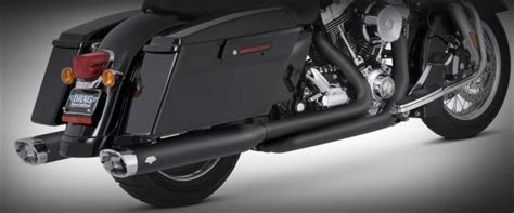 Vance And Hines Dresser Duals Black by Harley Davidson Flh Flt Dresser Duals 2010 Up Black