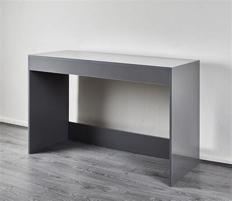 grey high gloss desk console dressing table abreo home