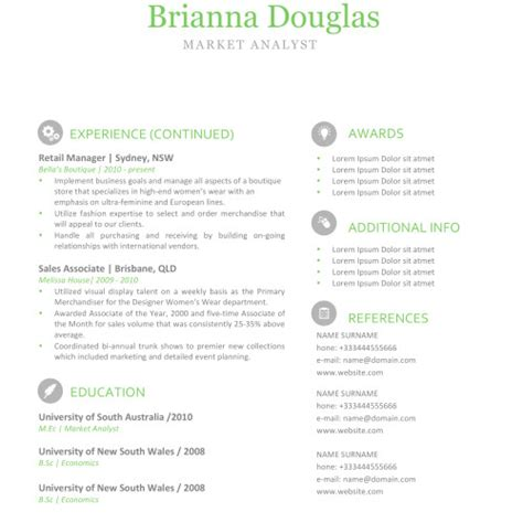 iwork resume templates modern resume exle 85
