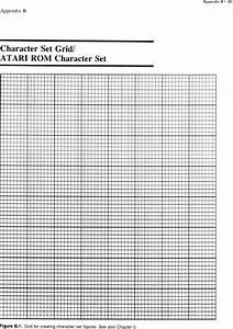 Computer Animation Primer  Appendix B  Character Set Grid