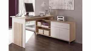 Schreibtisch 1 Klasse : schreibtisch manager mit sideboard in sonoma eiche und wei ~ Markanthonyermac.com Haus und Dekorationen