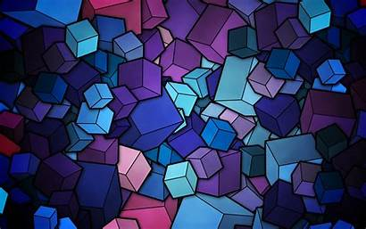 Abstract Multicolor Cubes Mobile Wallpapers