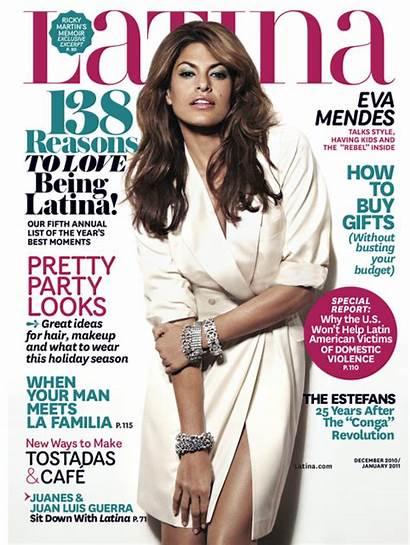 Eva Mendes Magazine Latina Covers December Issue