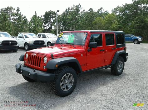 jeep rubicon 2017 maroon 2017 jeep wrangler unlimited rubicon 4x4 in firecracker