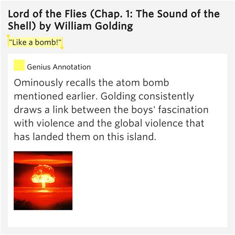 decorous definition lord of the flies quot like a bomb quot lord of the flies chap 1 the sound of