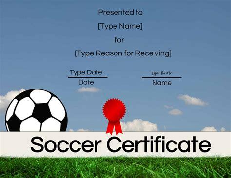 soccer certificate maker edit   print  home