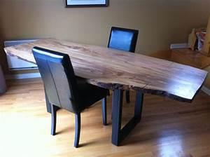 Table Bois Et Fer : table en bois d 39 olivier massif patte en fer forger noir ~ Premium-room.com Idées de Décoration