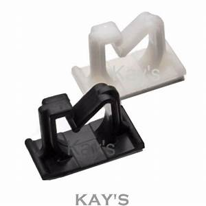 Self Adhesive  U0026 39 G U0026 39  Type Nylon Plastic Cable Clips    Wire