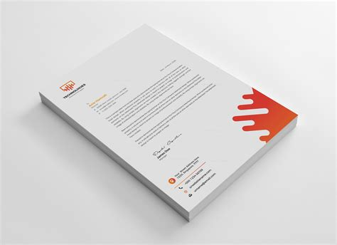 electronic creative corporate identity template