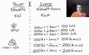 Conversion Kw En W : what 39 s the difference between a kw and a kwh youtube ~ Medecine-chirurgie-esthetiques.com Avis de Voitures