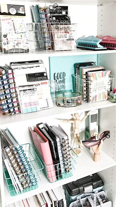 Using Wire Baskets To Organize Your Happy Planner