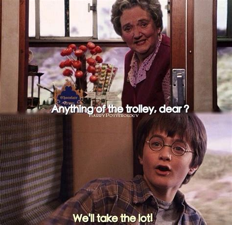 Harry Potter Trolley Meme - anything from the trolley dear we ll take the lot who doesn t want to answer that way on