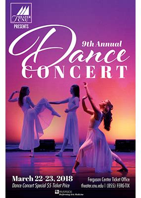 annual dance concert poster