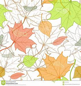 Autumn Fallen Leaves Hand Drawn Pattern Stock Vector ...