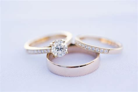 engagement ring vs wedding ring and wedding band a