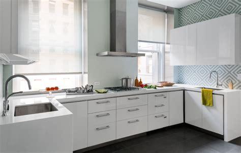 glossy white kitchen cabinets contemporary kitchen