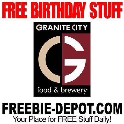 free birthday stuff granite city food brewery