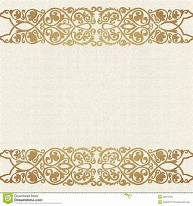 luxury gold border on seamless background stock vector With wedding invitation border designs gold