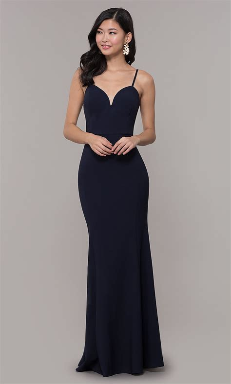 Long Fitted Sweetheart Simple Prom Dress - PromGirl