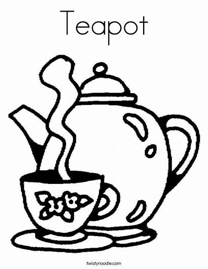 Tea Coloring Teapot Cup Cups Teko Noodle