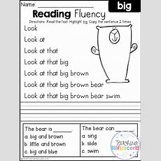 Free Reading Fluency And Comprehension (set 1)  For Educators  Reading Fluency, Kindergarten