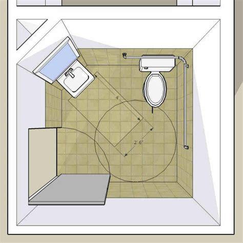 single accommodation toilet  door swing  lav clear