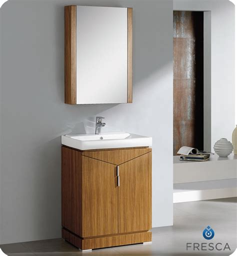 "Fresca Elissos 24"" Wild Honey Oak Modern Bathroom Vanity"
