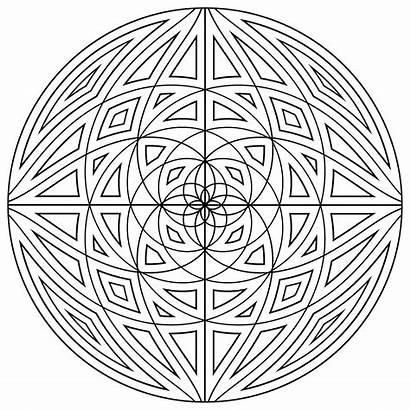 Mandala Coloring Pages Simple Mandalas Concentric Lines