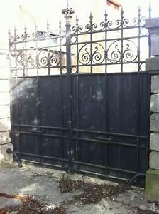 Portail Fer Forgé Plein : portail en fer forg plein fin xixe si cle artisans du ~ Dailycaller-alerts.com Idées de Décoration