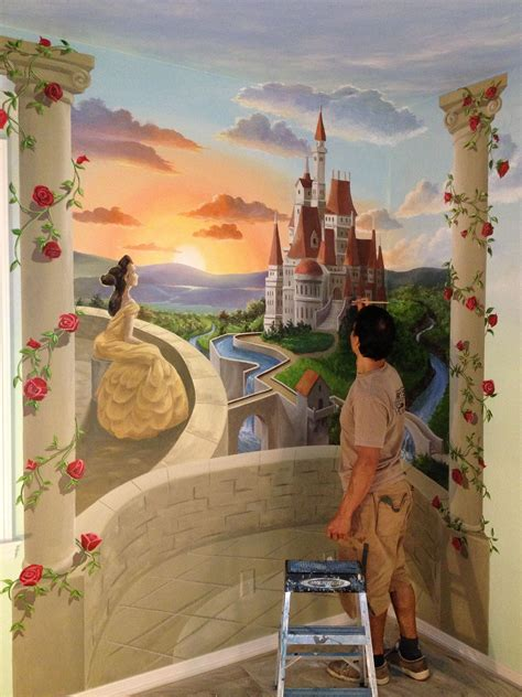 pin  gary gomez  creating artwork disney mural