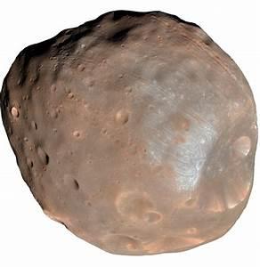 Fobos, uma das duas luas de Marte   NASA/JPL/UNIVERSIDADE ...