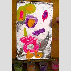 Easy Art For Kids  Painting On Foil  Arts & Crafts For Kids  Easy Art For Kids, Painting For