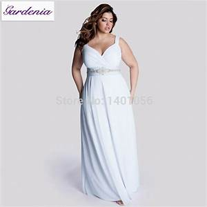robe de mariage plus size casual beach wedding dress long With beach wedding guest dresses plus size